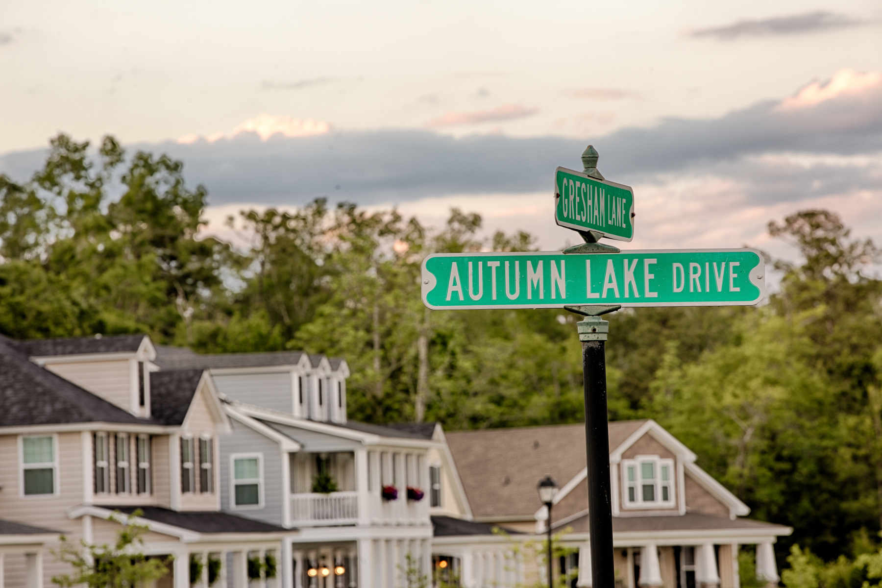 autumn lake sign