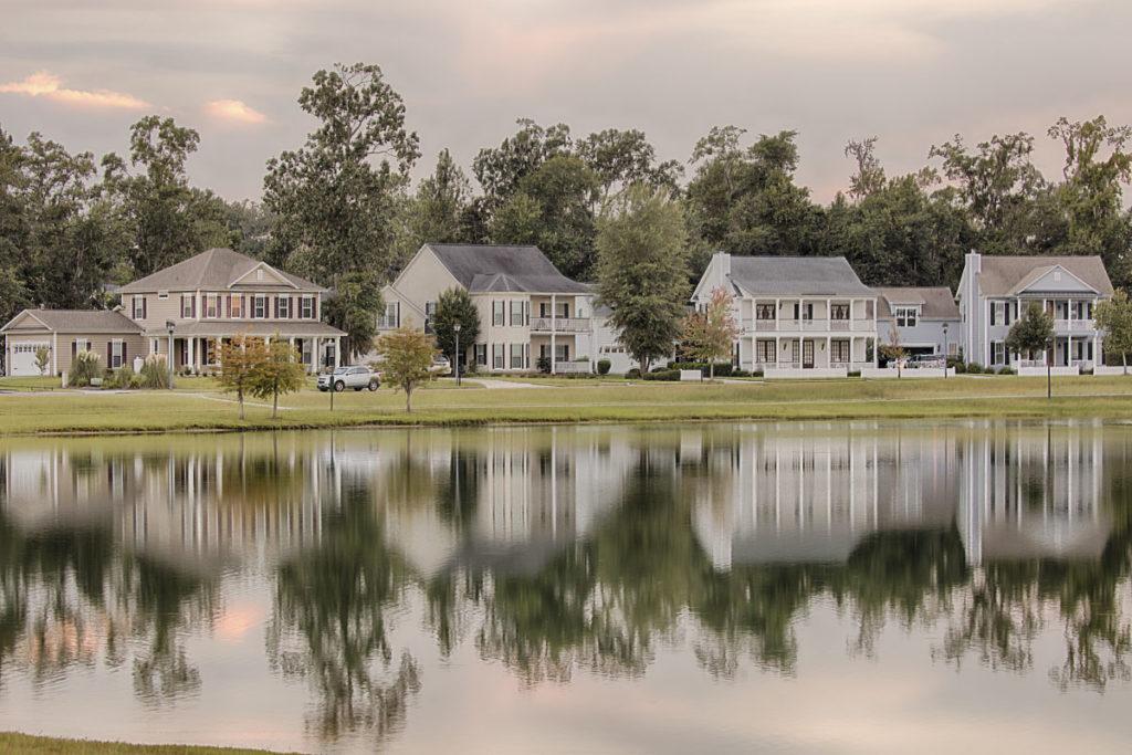 photo of lake and homes