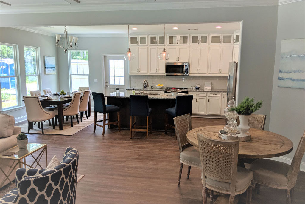Kitchen and dining area of town home